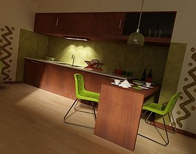 Kitchen Minimalistic Interior 3D model