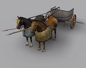3D asset Schythed Chariot