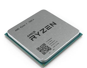 CPU Ryzen 3D model electronics