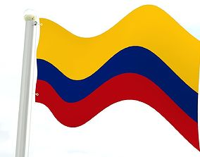 colombia 3D Colombia flag