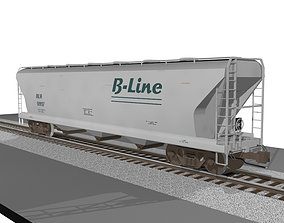 3D model Train Car - Grain Hopper