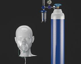 Oxygen masck 3D model construction