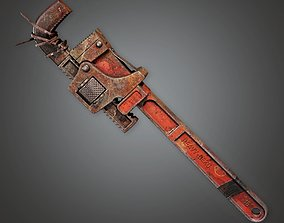3D asset PAM - Weapon Monkey Wrench 01 -PBR Game Ready