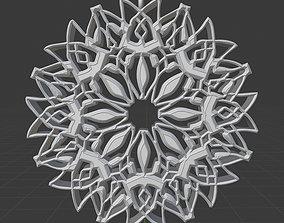 Crescent Pendant Pattern Moon 3D printable model 1