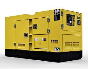 Industrial Diesel Generator 3D asset