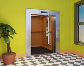 3D asset Elevator and door