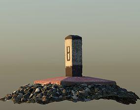 3D model Kilometer post