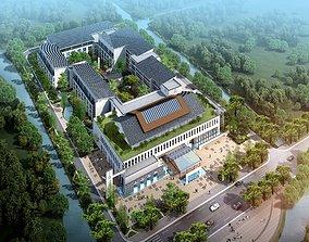 Chinese architecture Construction Villa area 3D