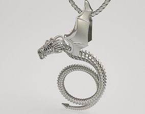 Scary dragon pendant - original 3D printable model