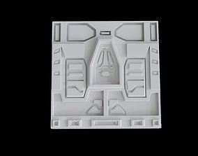 Sci fi decoration panel model 2
