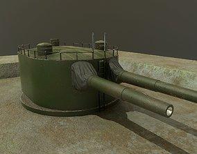 Coastal artillery 305 mm 3D asset