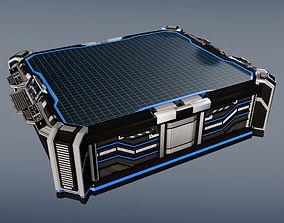 Sci-fi space hologram table 3D model