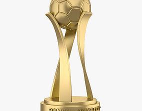 Football Award Cup 001 3D asset game-ready
