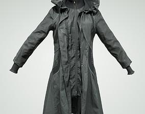 3D model Long black Coat