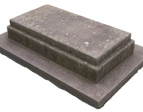 3D asset Tomb 02 - High and Low Versions