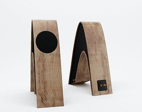 Modern stereo audio speakers 22 AM77 3D model