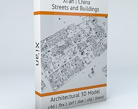 Xian Streets and Buildings 3D