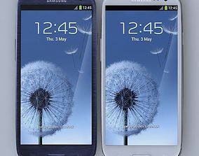 3D Samsung I9300 Galaxy S III White and Blue
