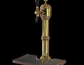 3D model Brass Beer Tap