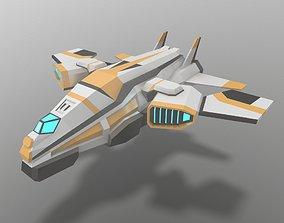 3D model Sci-fi Space Aircraft SA-3