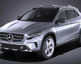 3D model Mercedes Benz GLA Concept 2014 VRAY