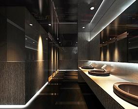 3D model Mall Restroom hq