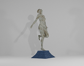 Old Sculpture of A Girl 3D