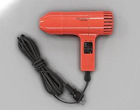 3D asset realtime Retro Hair Dryer