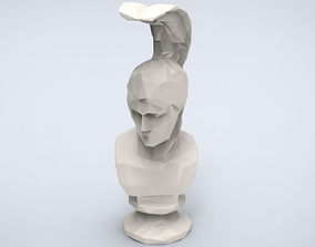 Printable Ares bust Lowpoly Style