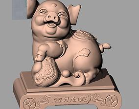 Animal Sculpture Model Rich Pig A031
