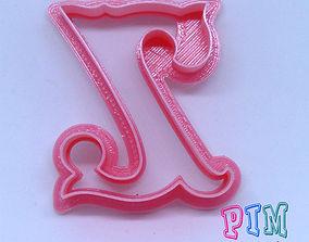3D print model Vintage letter Z cookie cutter