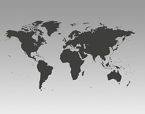 3D model World map fbx