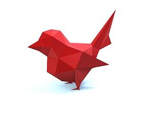3D print model low poly bird geometric