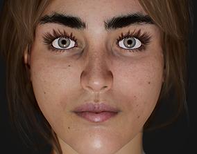 Female Head 3D asset VR / AR ready