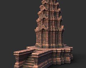 Low poly Ancient Temple 04 3D asset
