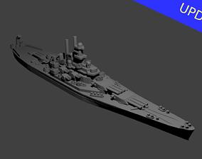 US Battleship USS Indiana 3D printable model