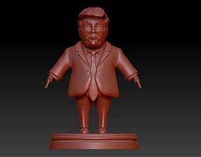 Donald Trump caricature 3D print model