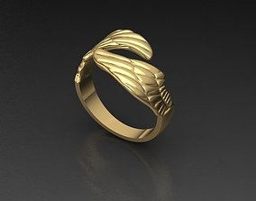 Angel Feather Ring 3D print model