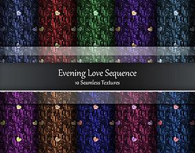 Evening Love Sequence Seamless Textures Set 3D model