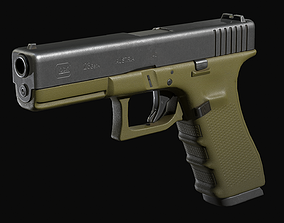 3D model game-ready Glock 17