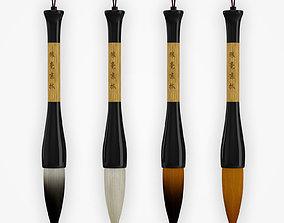 Chinese Calligraphy Brush Pen 3D model