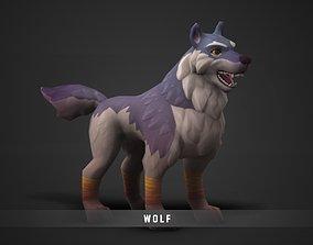 3D asset Fantasy Wolf