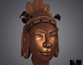 Hindu God Statue Head 3D print model