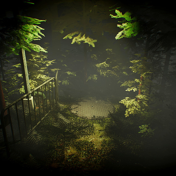 Lamp Post in a Creepy Forest [Made in Unity 5]