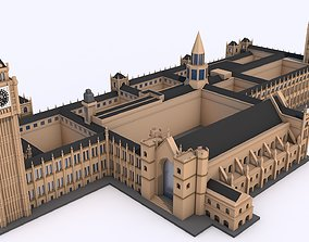 Big Ben and The House of Parliament London 3D asset