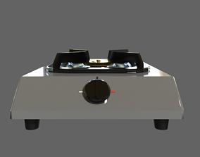 3D model Single Burner Gas Stove - Kompor Gas