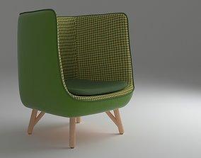 Armchair 04 green 3D model