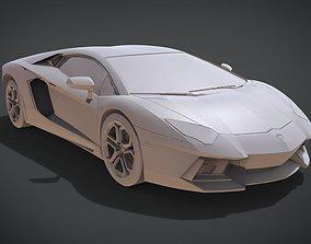 3D printable model Lamborghini Aventador