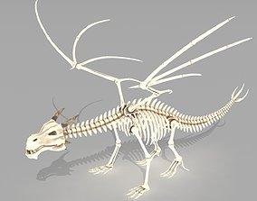 Dragon skeleton 3D asset