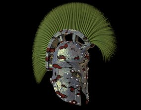 head 3D model Roman helmet